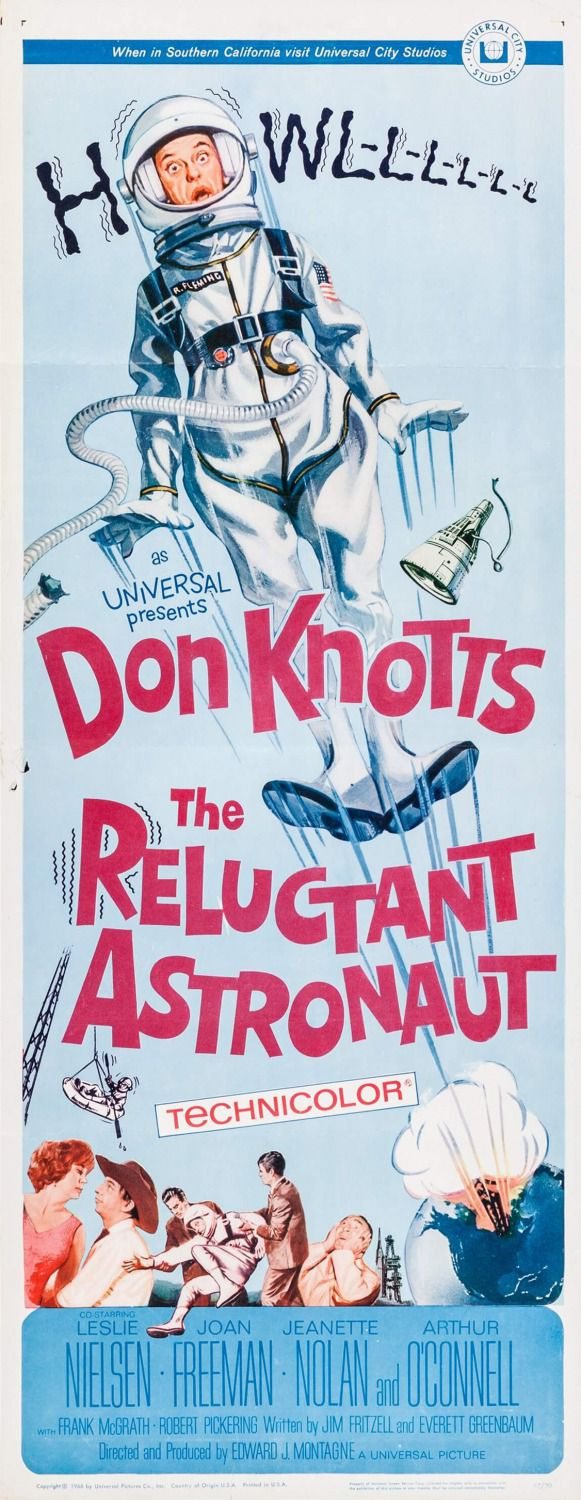 The Reluctant Astronaut - Astronauta Riluttante - 1967 - Don Knotts - classic poster