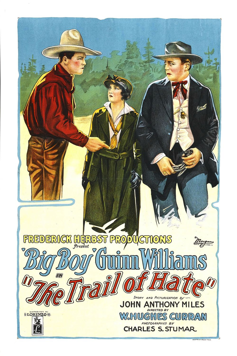 The Trail of Hate (1922) - classic cult old film western poster