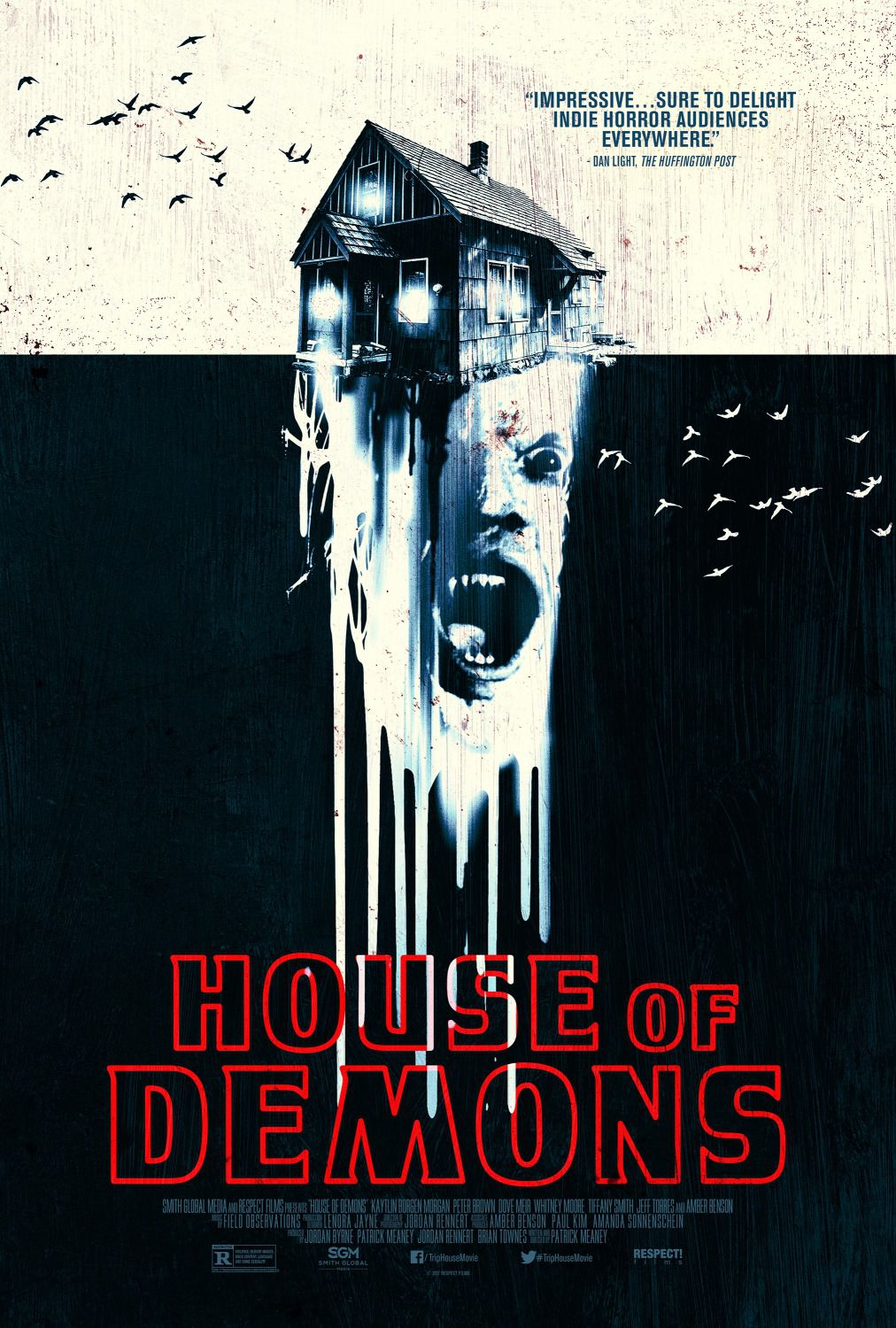 House of Demons - Trip House - Cast: Amber Benson, Whitney Moore - horror film poster