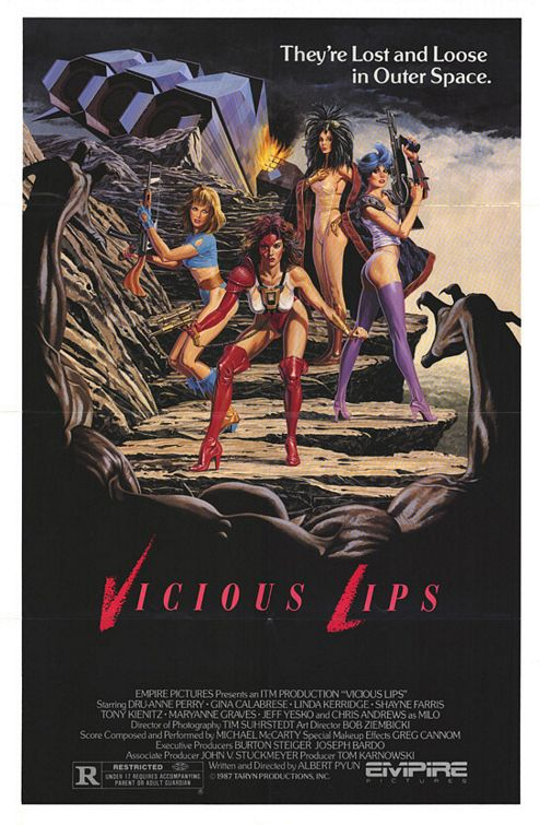 Vicious Lips (1987) - classic scifi, B Movie Poster
