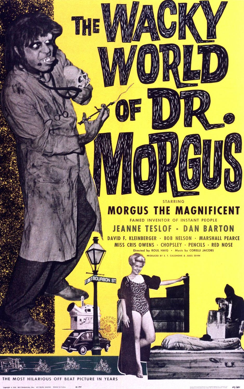 Wacky World of Dr Morgus (1962) - classic cult horror scary thriller film poster
