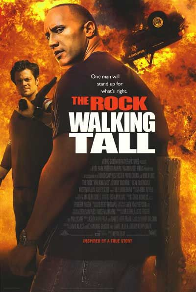 Walking Tall - film poster - The Rock (young jeune begin)