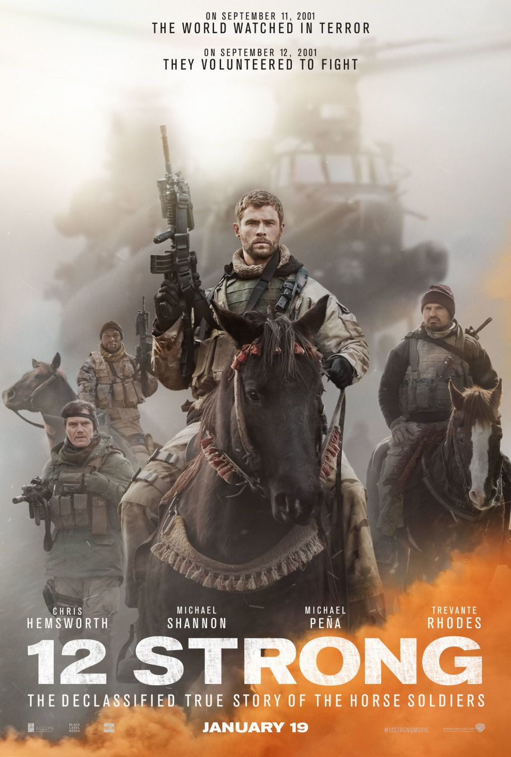 12 Strong - 2018 - Chris Hemsworth Michael Shannon Michael Pena Elsa Pataky