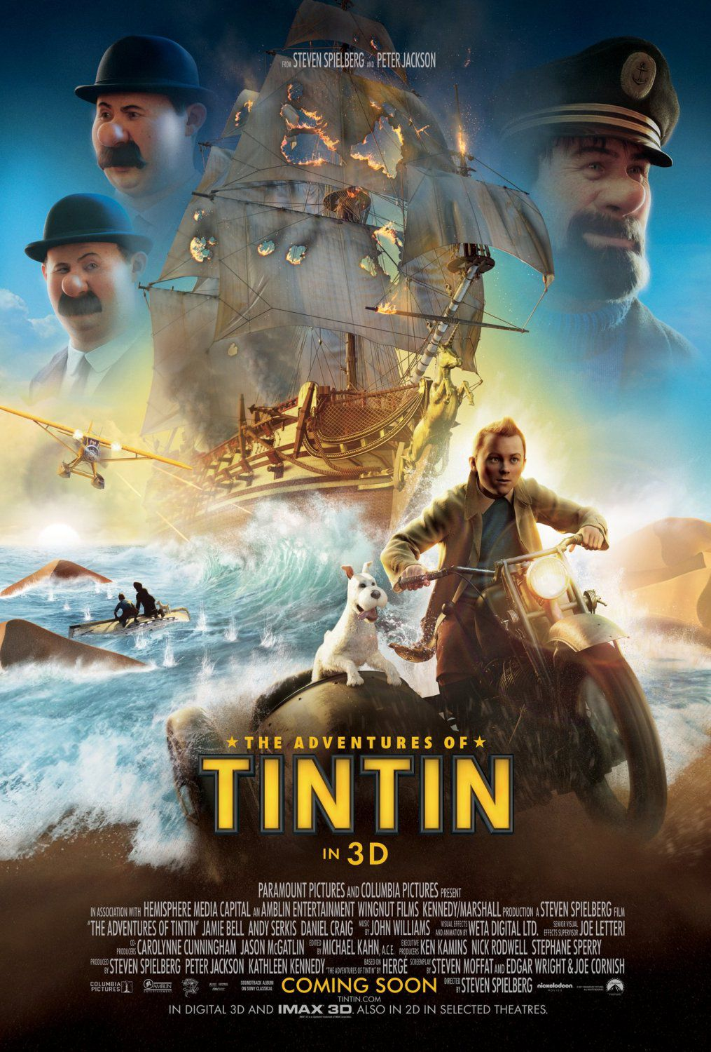 Le Avventure di Tintin il segreto dell'Unicorno - Adventures of Tintin secret of the Unicorn - live action film poster
