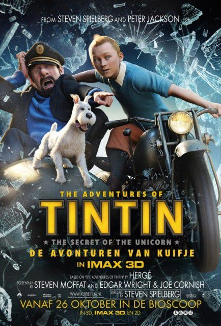 Sidecar - Le Avventure di Tintin il segreto dell'Unicorno - Adventures of Tintin secret of the Unicorn - live action film poster