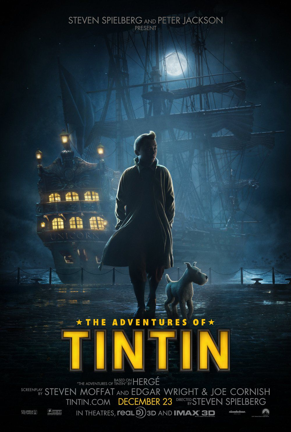 Veliero - Sail - Le Avventure di Tintin il segreto dell'Unicorno - Adventures of Tintin secret of the Unicorn - live action film poster