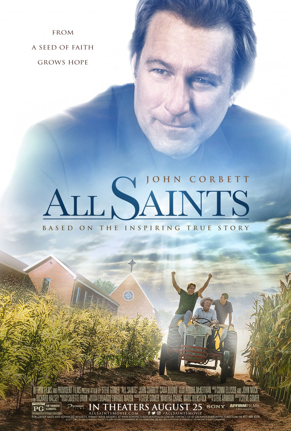 All Saints - 2017 film - Cara Buono - John Corbett - Barry Corbin - David Keith - poster