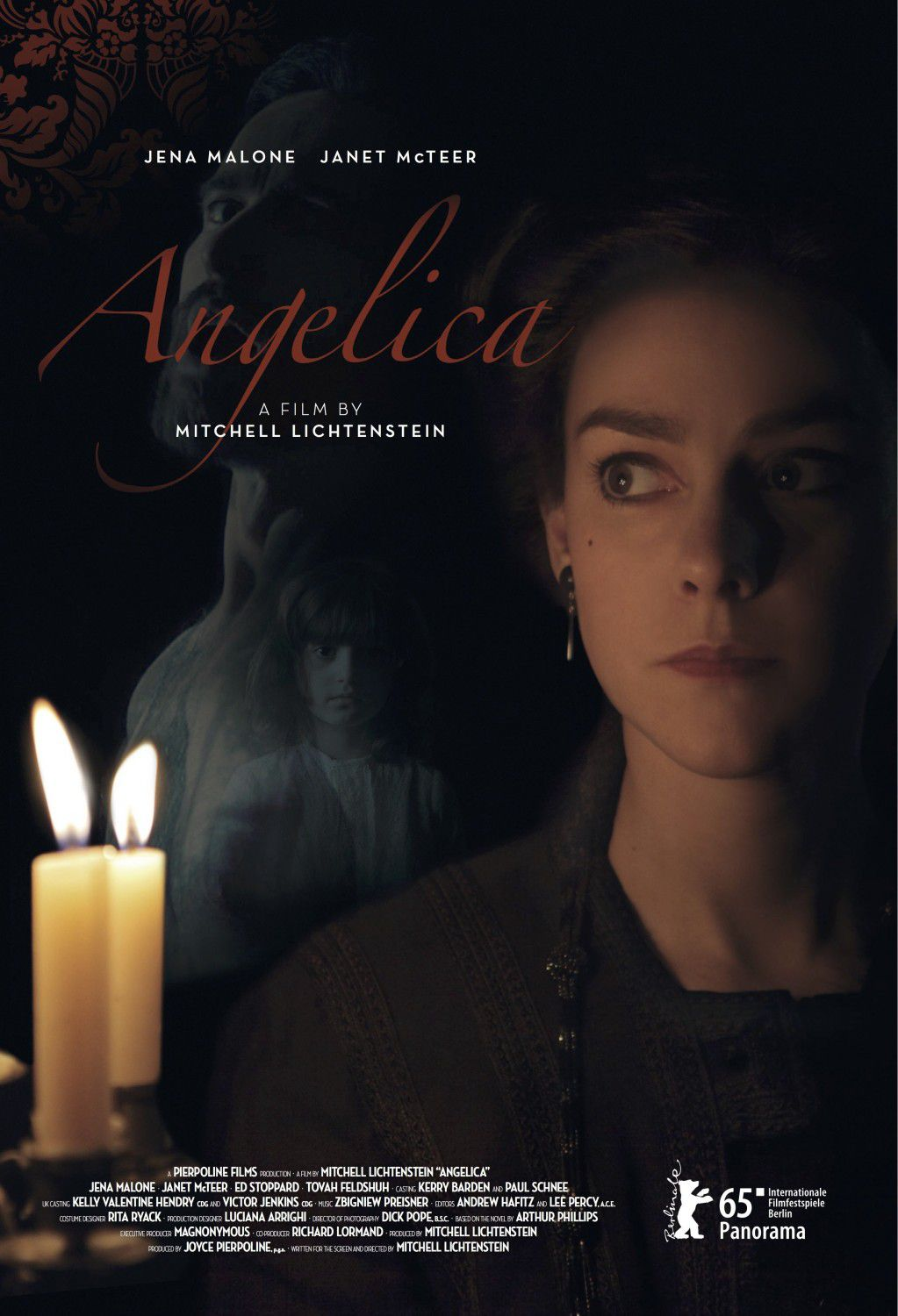 Angelica - her passions awakened supernatural forces -  film poster - Jena Malone - Janet McTeer - Ed Stoppard