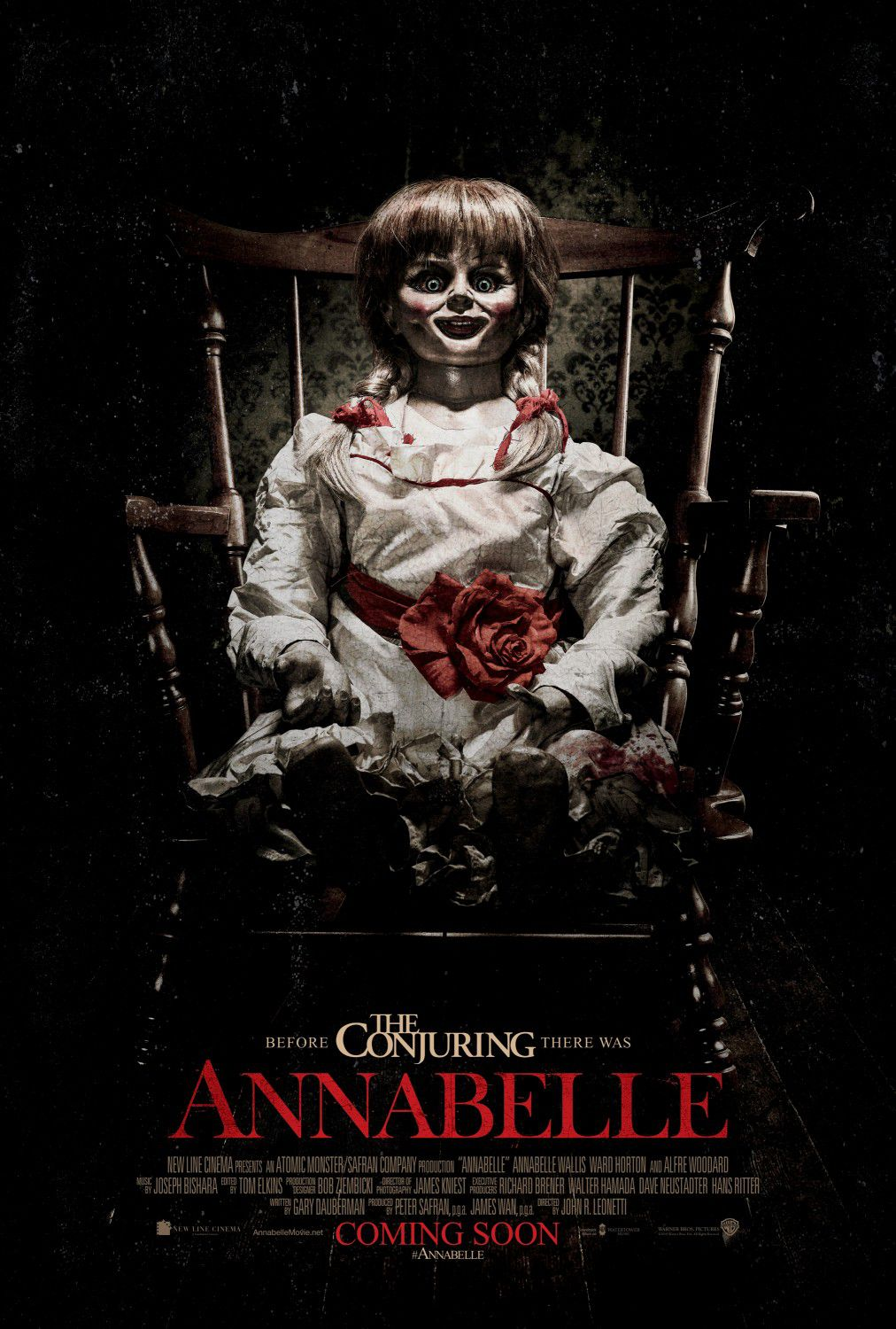 Annabelle - horror poster - scary assassin doll