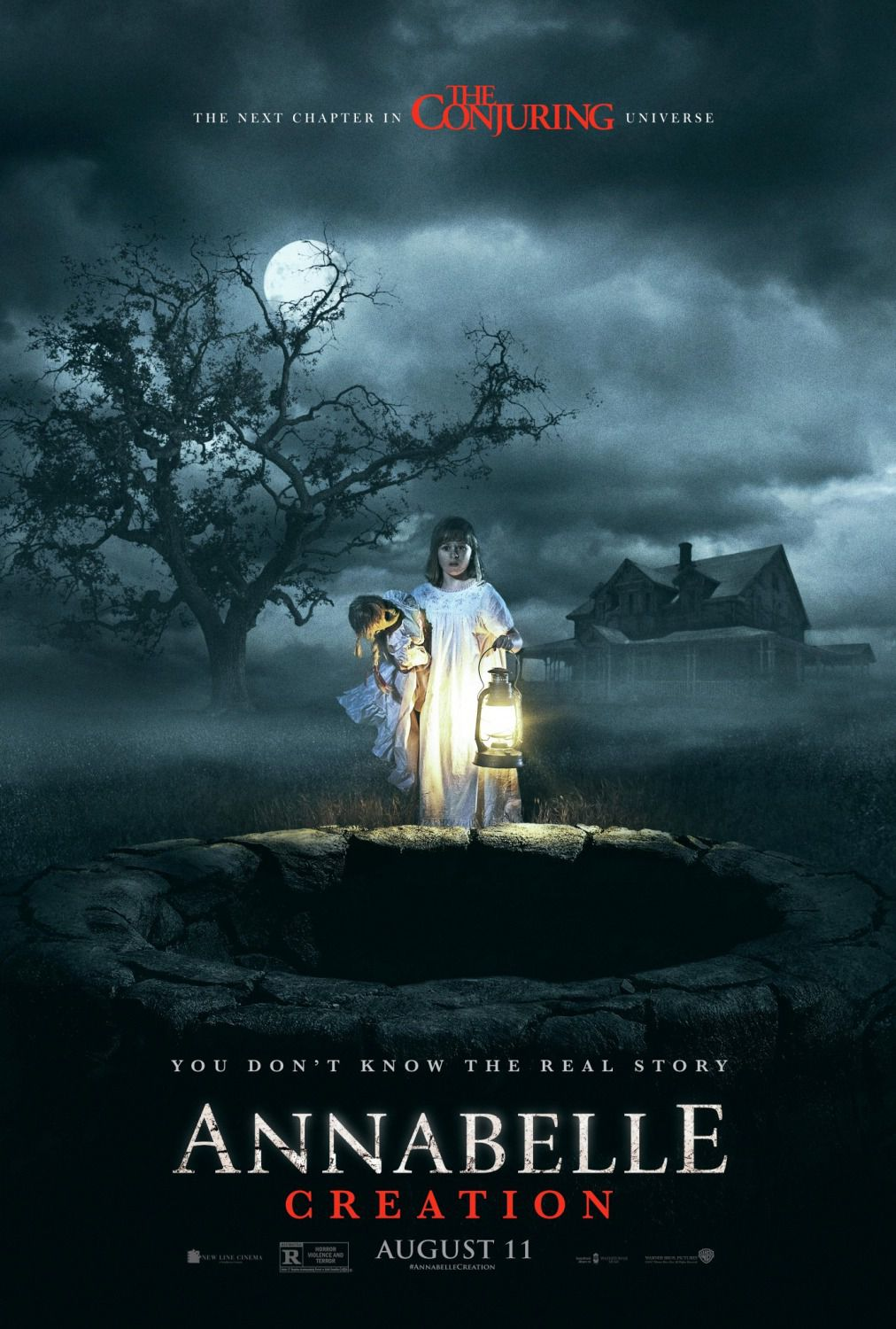 Annabelle 2 - Creation - horror poster - the next chapter in the Conjuring universe