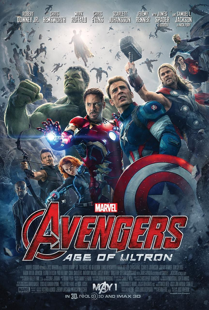 Film - Avengers 2 - Age of Ultron  - Robert Downey Jr. - Chris Hemsworth - Mark Ruffalo - Chris Evans - Scarlet Johansson - Jeremy Renner - James Spader (ultron) - Samuel L. Jackson (Nick Fury)