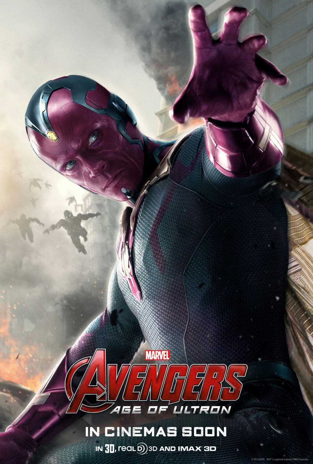 Avengers 2 - Age of Ultron . poster - Paul Bettany - Visione