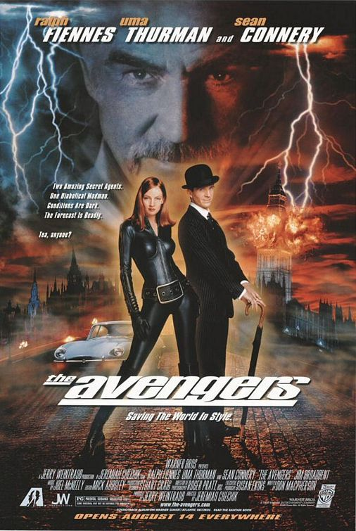 Film - The Avengers - Spy story con Ralph Fiennes, Uma Thurman e Sean Connery
