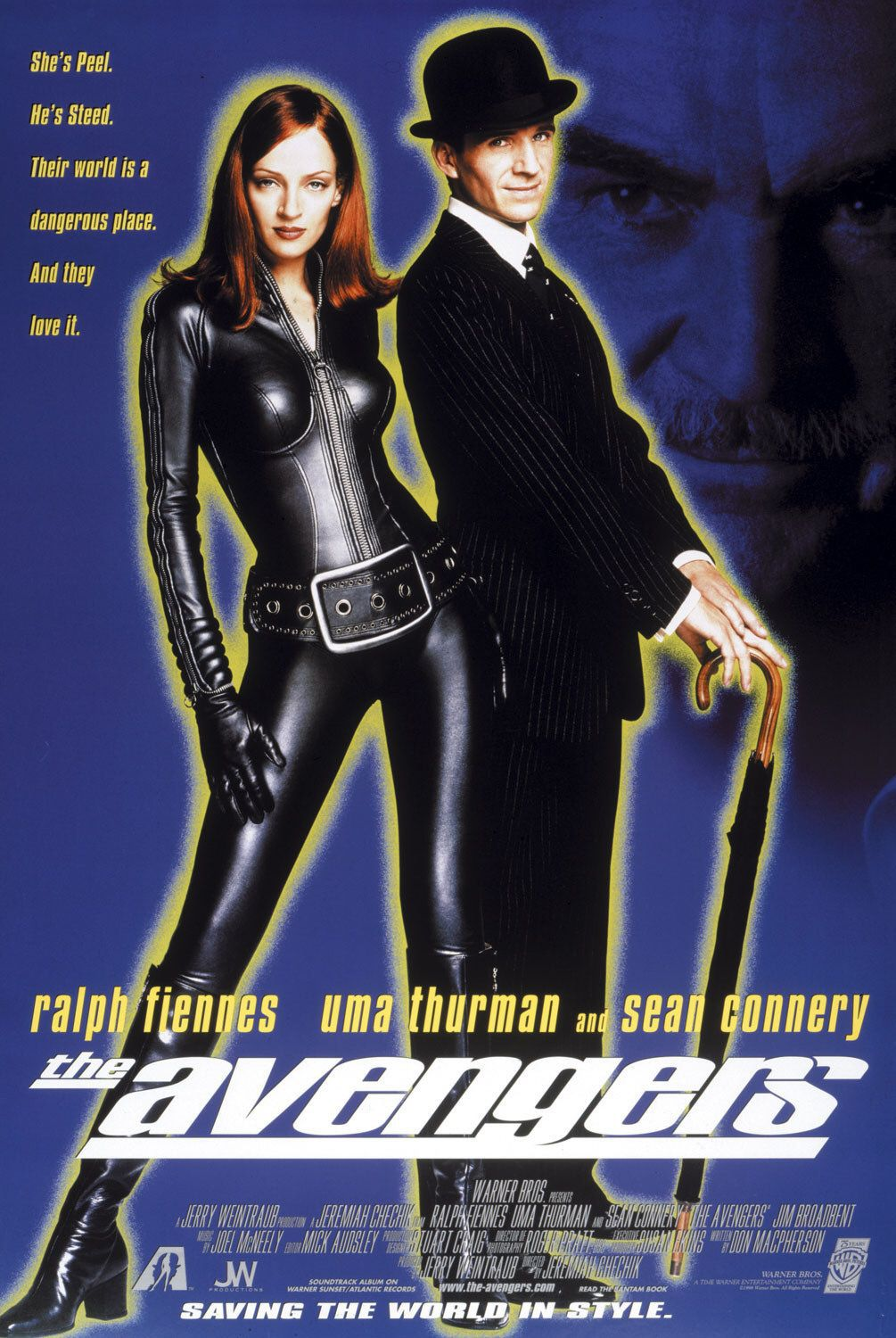 Film poster - The Avengers - Spy story con Ralph Fiennes e Uma Thurman