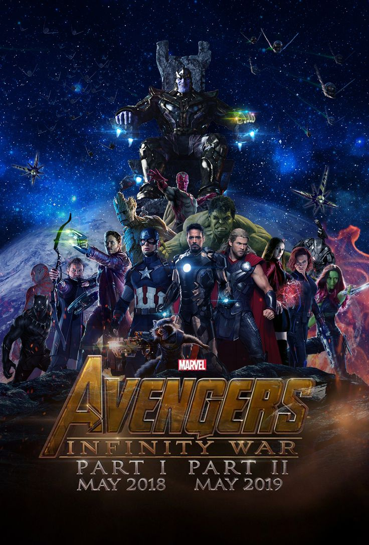Avengers infinity war ... Avengers and Guardians of Galaxy - film poster - 2018-2019 news