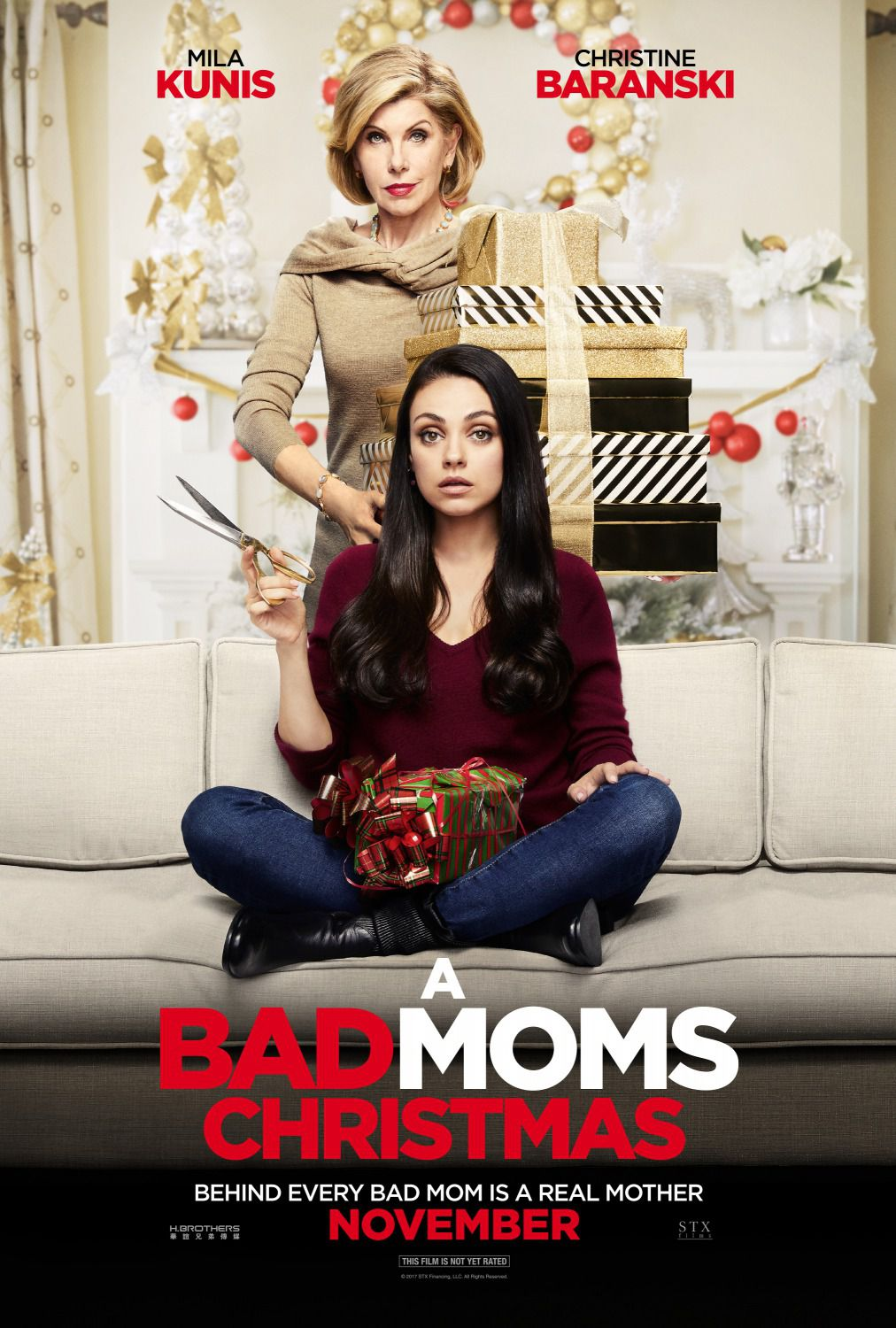 Bad Moms Christmas - Bad Moms 2 – Mamme molto più cattive - film poster - Mila Kunis - Christine Baranski