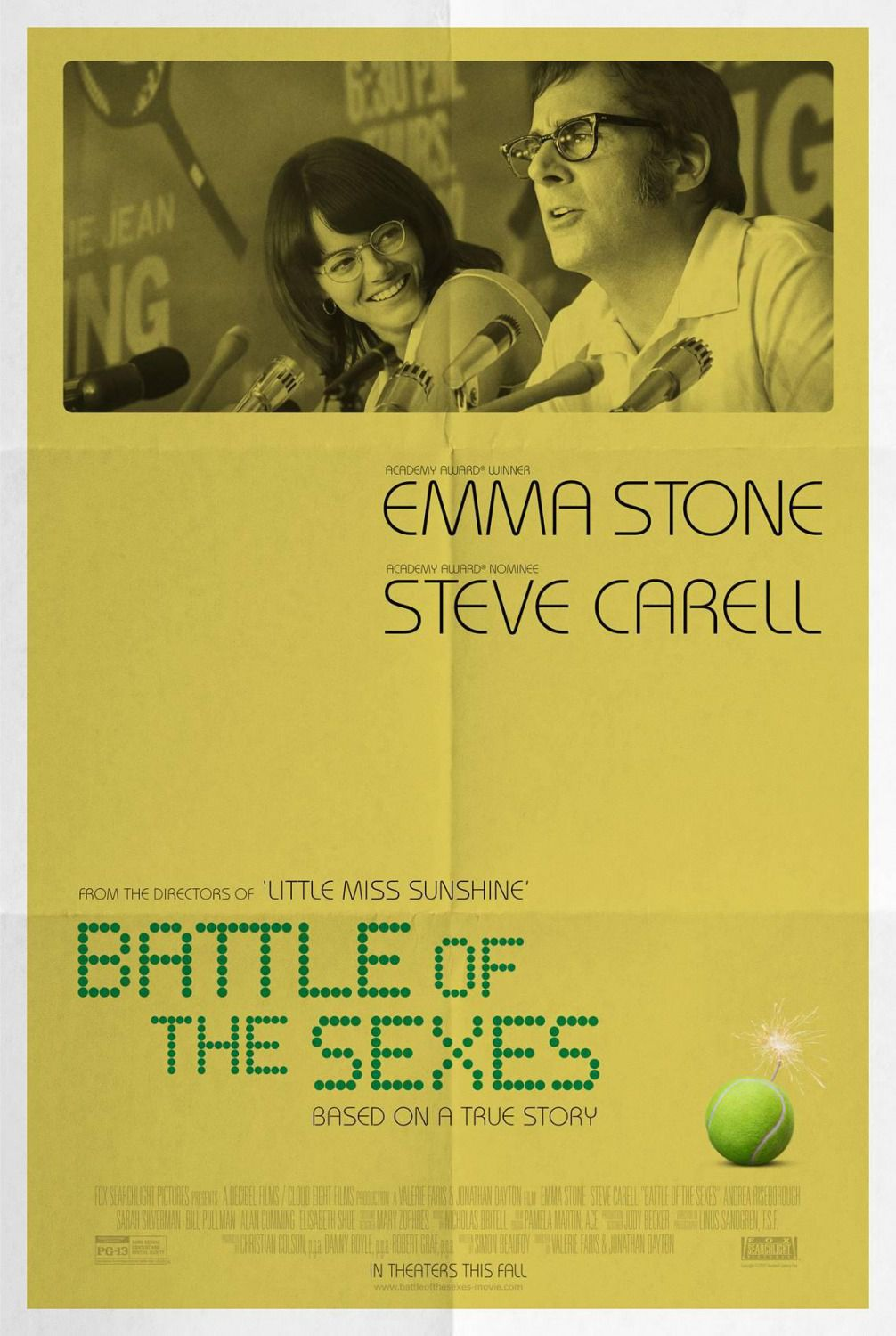 Battle of the Sexes - La Battaglia dei Sessi - film poster - Emma Stone - Steve Carell