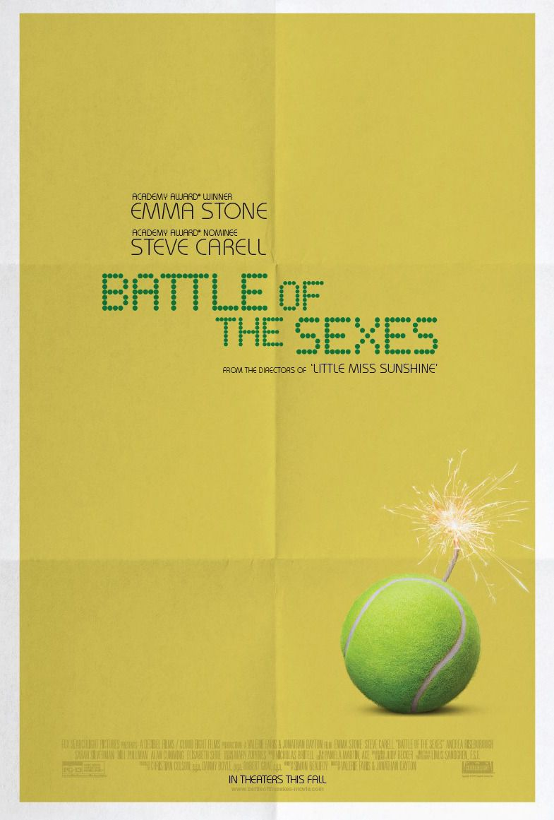 Battle of the Sexes - film poster - Emma Stone - Steve Carell