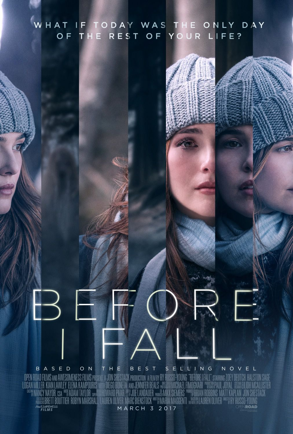 Before I Fall - Zoey Deutch - Halston Sage - Elena Kampouris - Logan Miller - film poster