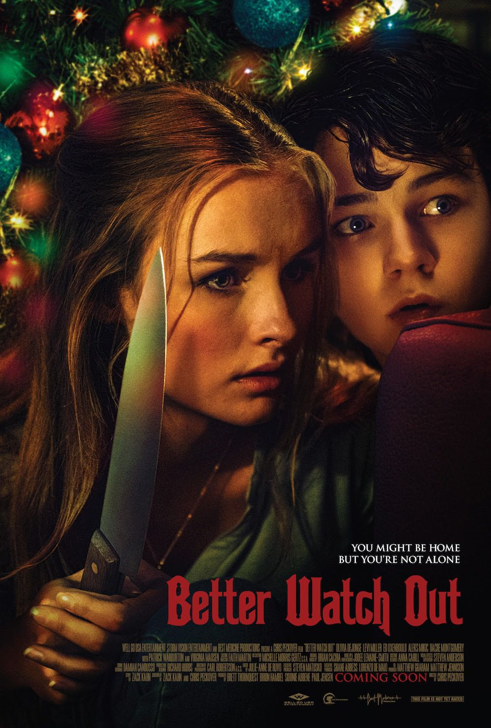 Better Watch Out - Safe Neighborhood - Virginia Madsen - Patrick Warburton - Olivia DeJonge - film poster