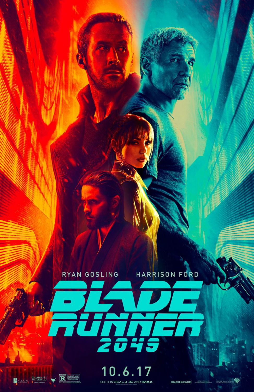 Blade Runner twenty forty nine 2049 - poster - Harrison Ford - Ryan Gosling - Robin Wright - Dave Bautista
