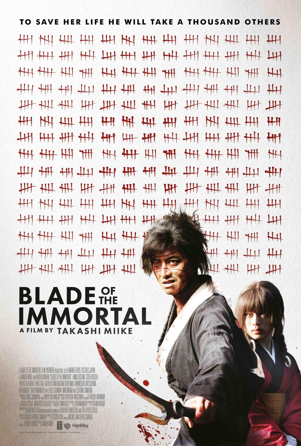 Blade of the Immortal - per salvare la vita di lei dovrà prendere la vita di altri 100 - to save her life he will take a thousand others  live action - poster