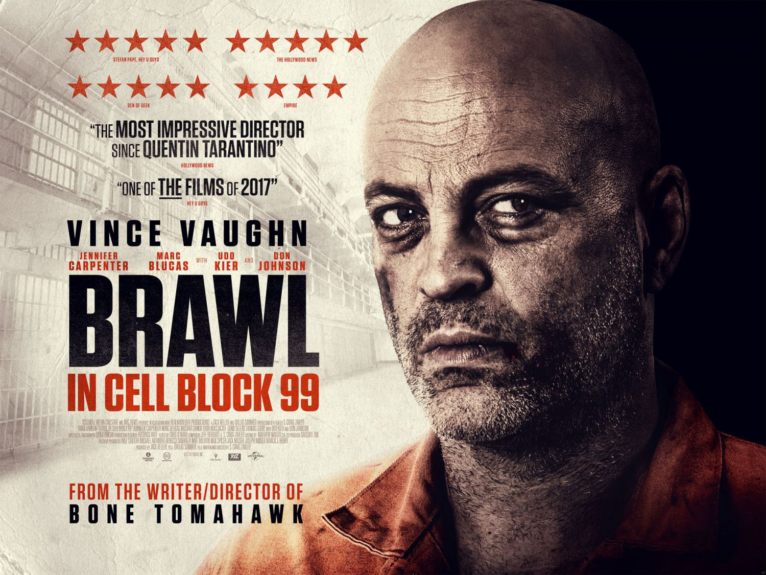Brawl in Cell Block 99 - Vince Vaughn - Jennifer Carpenter - Don Johnson - Udo Kier - film poster