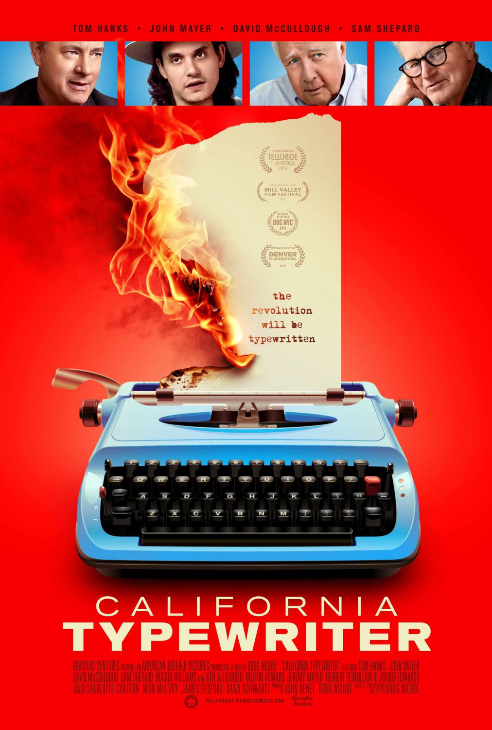 California Typewriter - Tom Hanks - John Mayer - David McCullough - Sam Shepard
