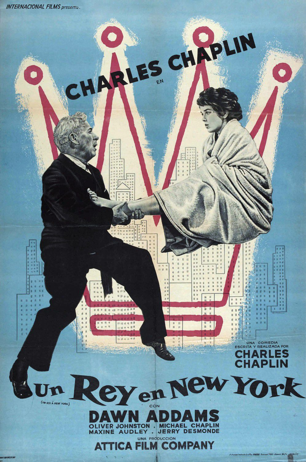 Film - Charlie Chaplin - 1957 - King in New York - Re di NY