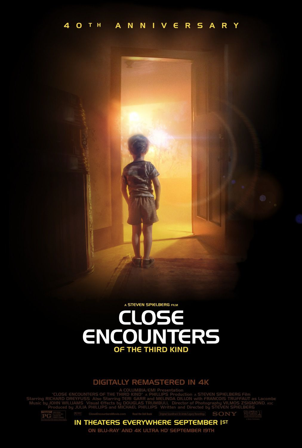 Close encounters of the third kind - Incontri ravvicinati del 3 tipo - 40th anniversary - film poster