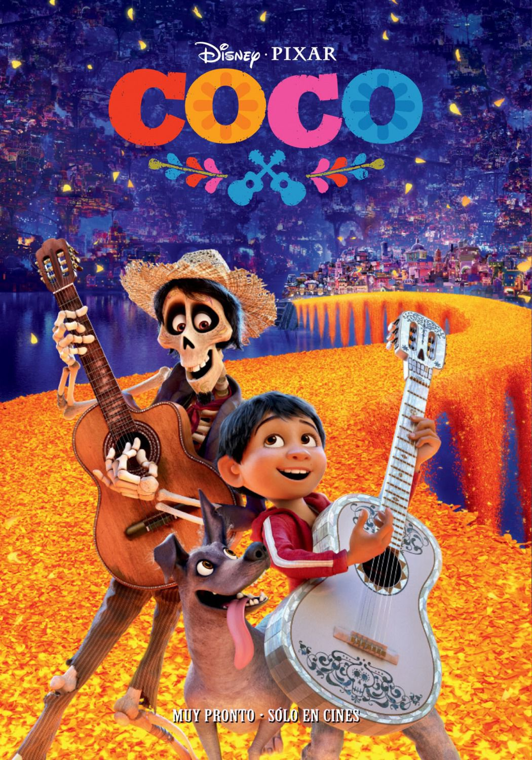 Coco -  Disney Pixar animated film poster - guitar