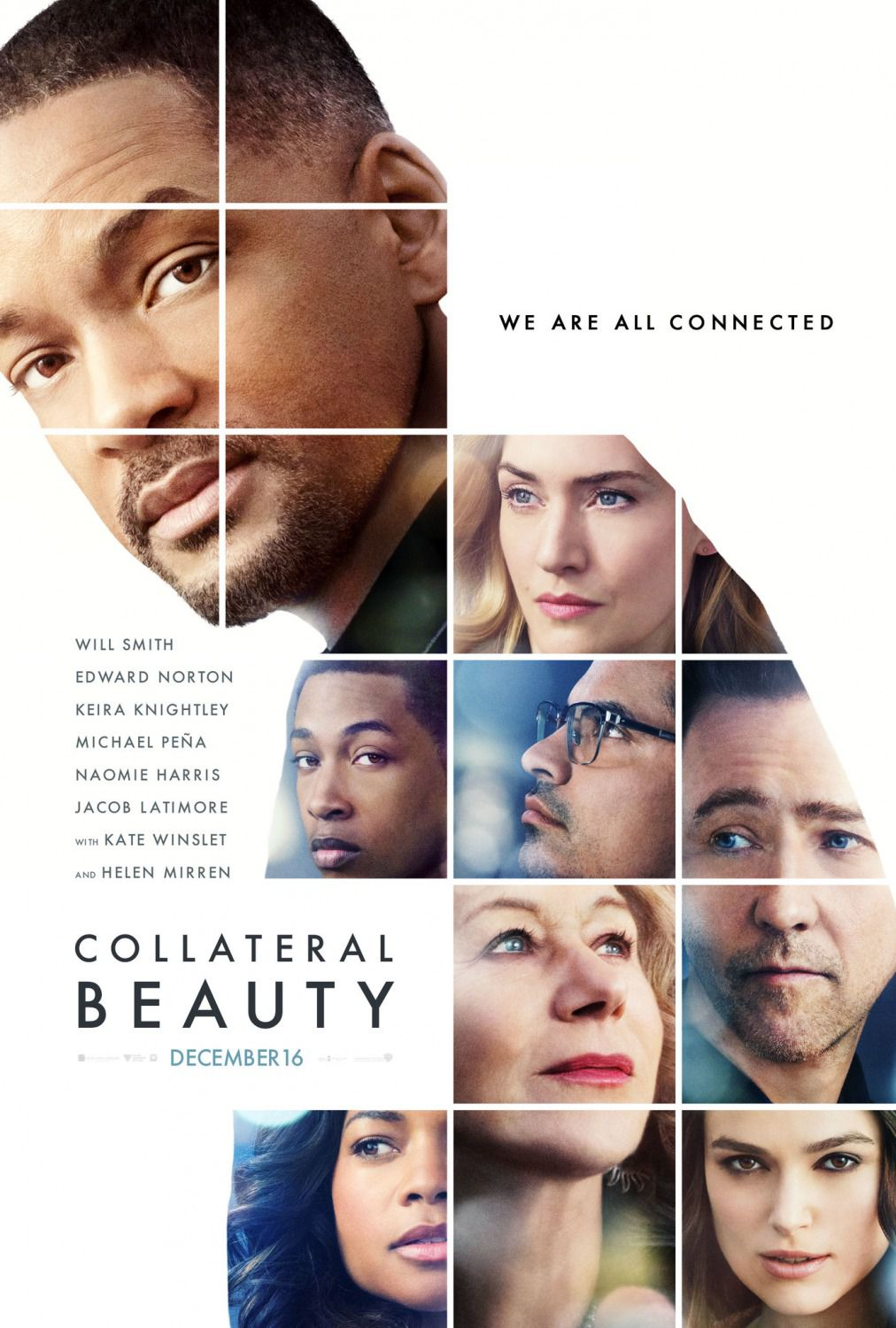 Collateral Beauty - la Bellezza Collaterale - Will Smith - Kate Winslet - Keira Knightley - Edward Norton - film drama poster
