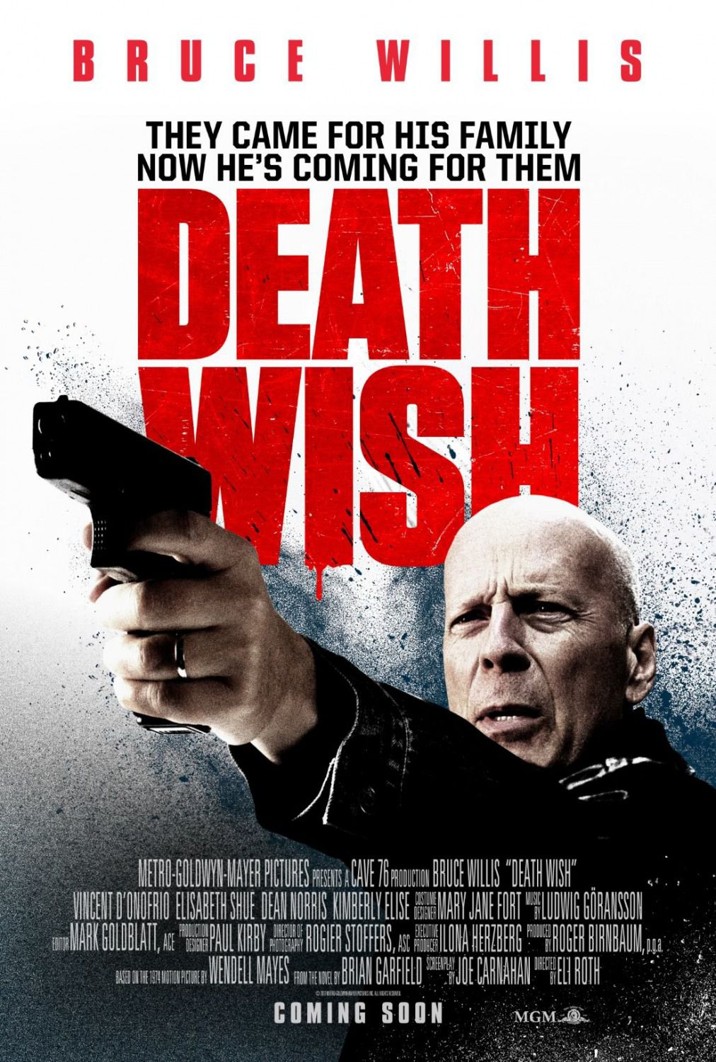 Death Wish - Bruce Willis - Vincent D Onofrio - Dean Norris - film poster