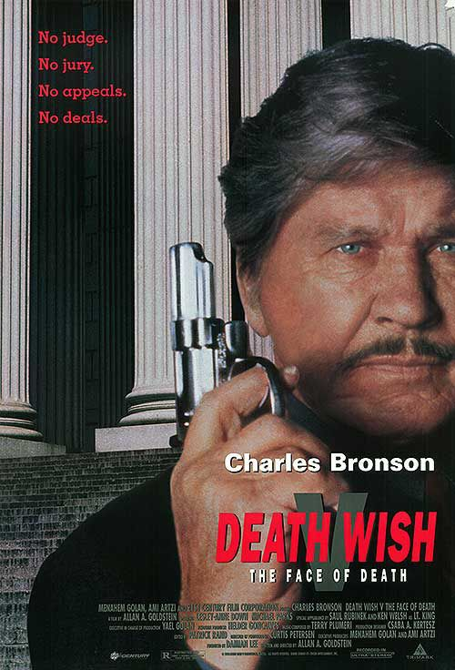 Il Giustiziere della Notte 5 - Death Wish V - the Face of Death - Charles Bronson - film poster 1994