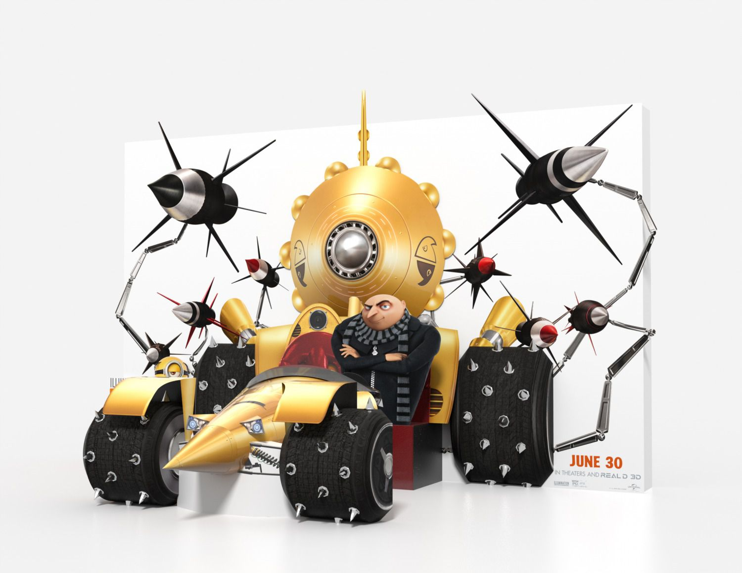 Cattivissimo me 3 - Despicable me 3 - yellow gold car
