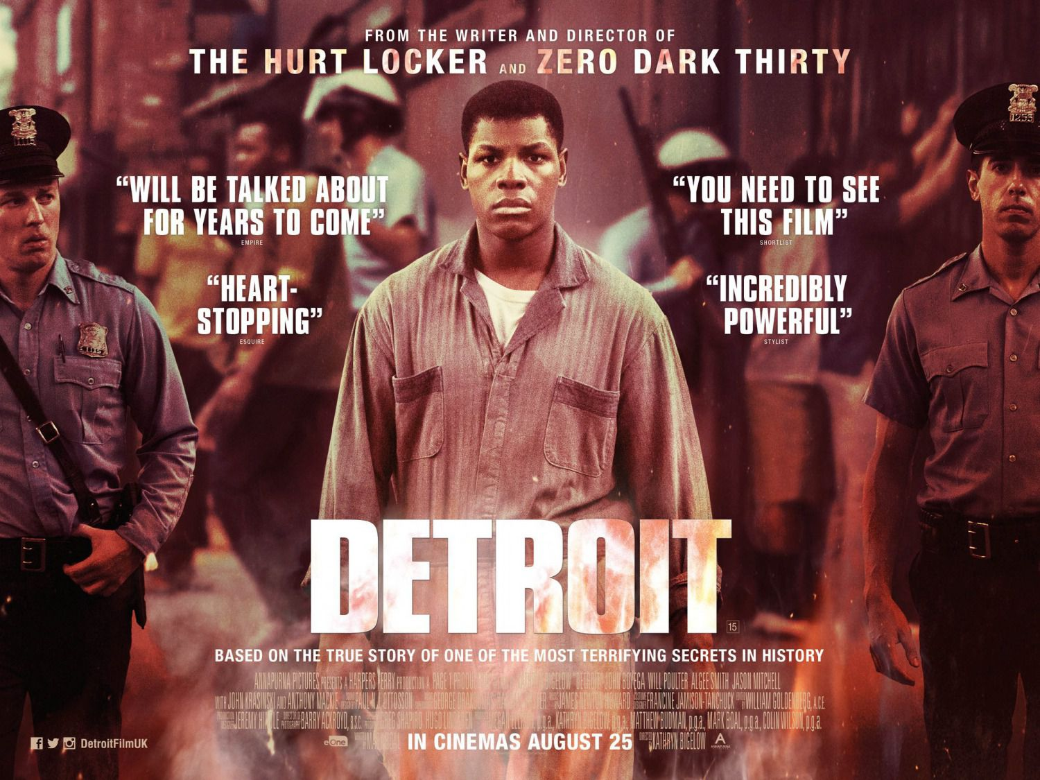 Detroit ... film based on the true story of one of the most terrifying secret in history - poster
