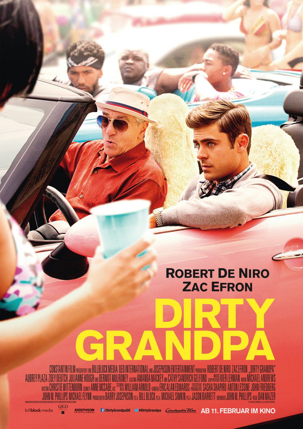 Dirty Grandpa - Lose your way Find your manhood - Zac Efron Robert De Niro Julianne Hough Aubrey Plaza- film comedy poster