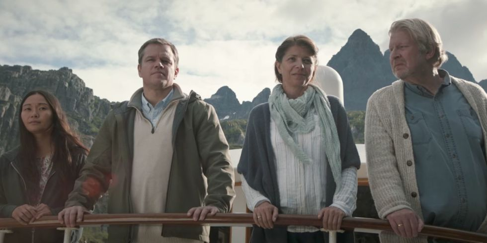 Film - Downsizing - vivere alla grande - scene - mini tour - crociera con piccola barca - little boat