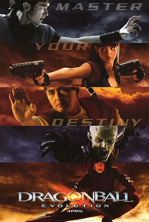 Dragonball Evolution - live action film poster