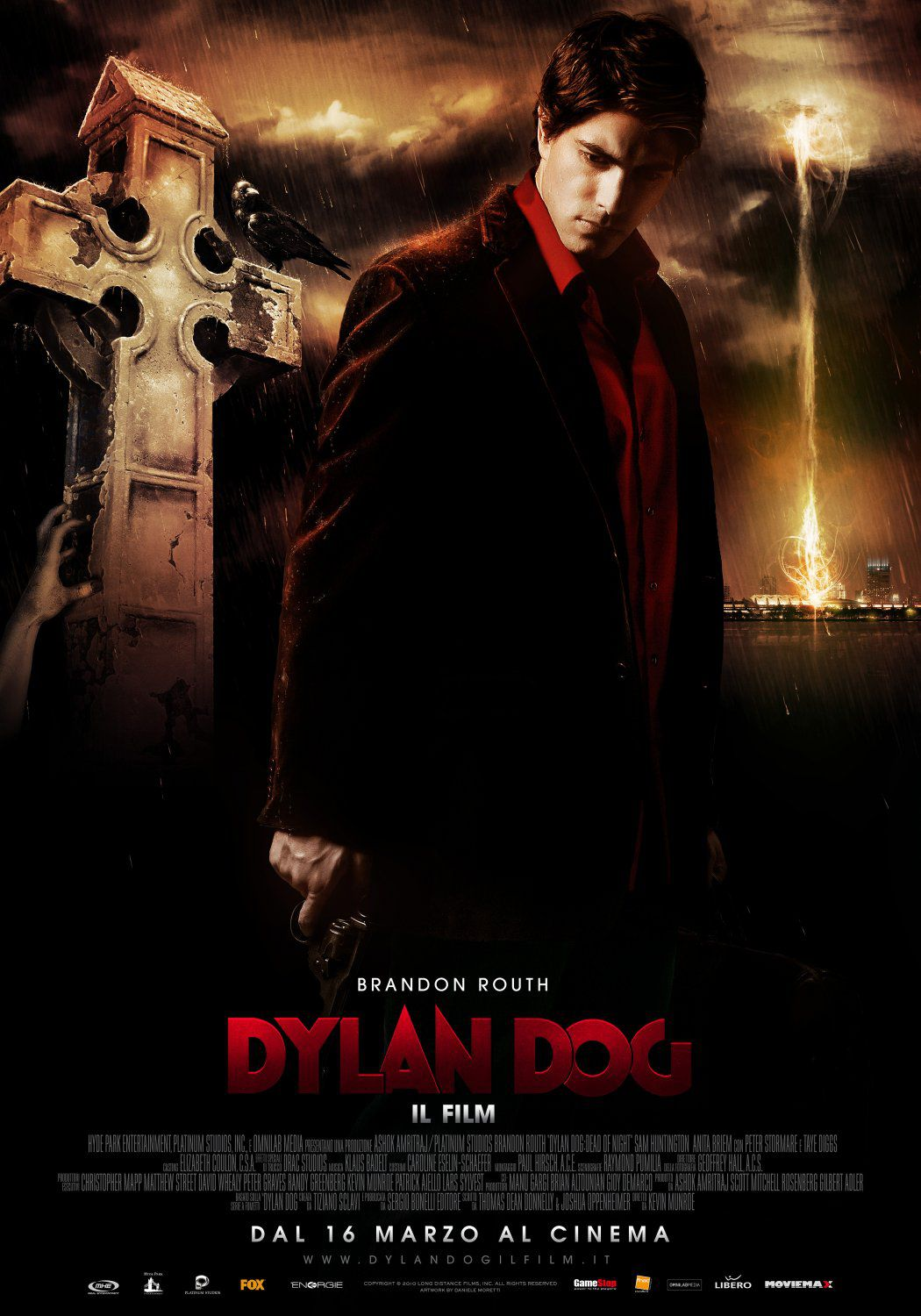 Dylan Dog Dead of Night - live action film poster - Brandon Routh