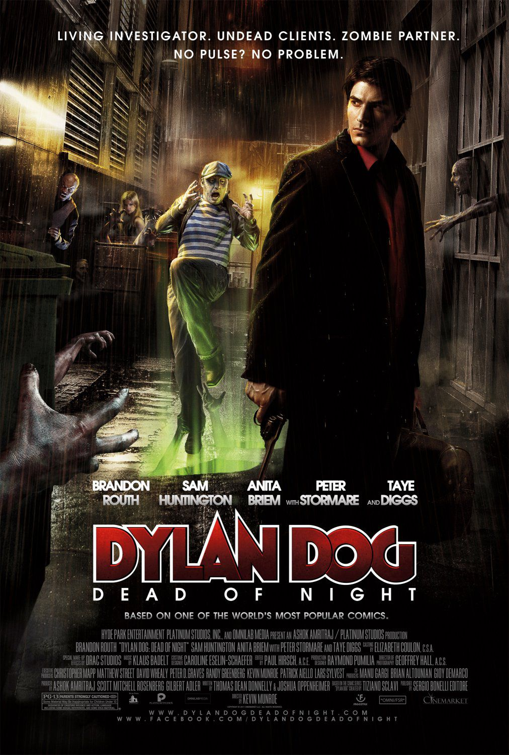 Dylan Dog Dead of Night - live action film - Brandon Routh - Peter Stormare - Sam Huntington - Taye Diggs - poster