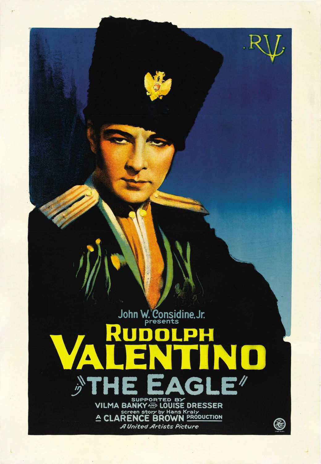 The Eagle 1925 - classic cult old film poster - Rudolph (Rodolfo) Valentino