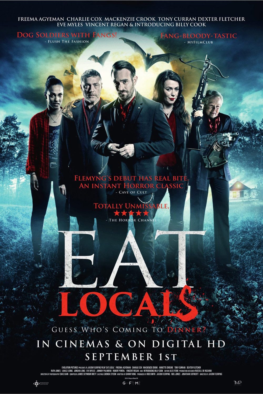 Eat Locals - Freema Agyeman - Charlie Cox - MacKenzie Crook - Tony Curran - Dexter Fletcher - Eve Myles - Vincent Regan - Billy Cook - film poster