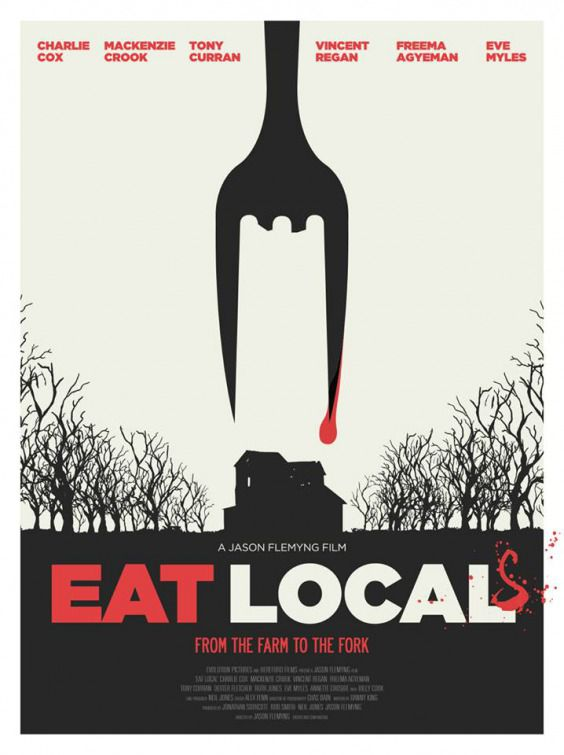 Eat Locals - film poster - fork