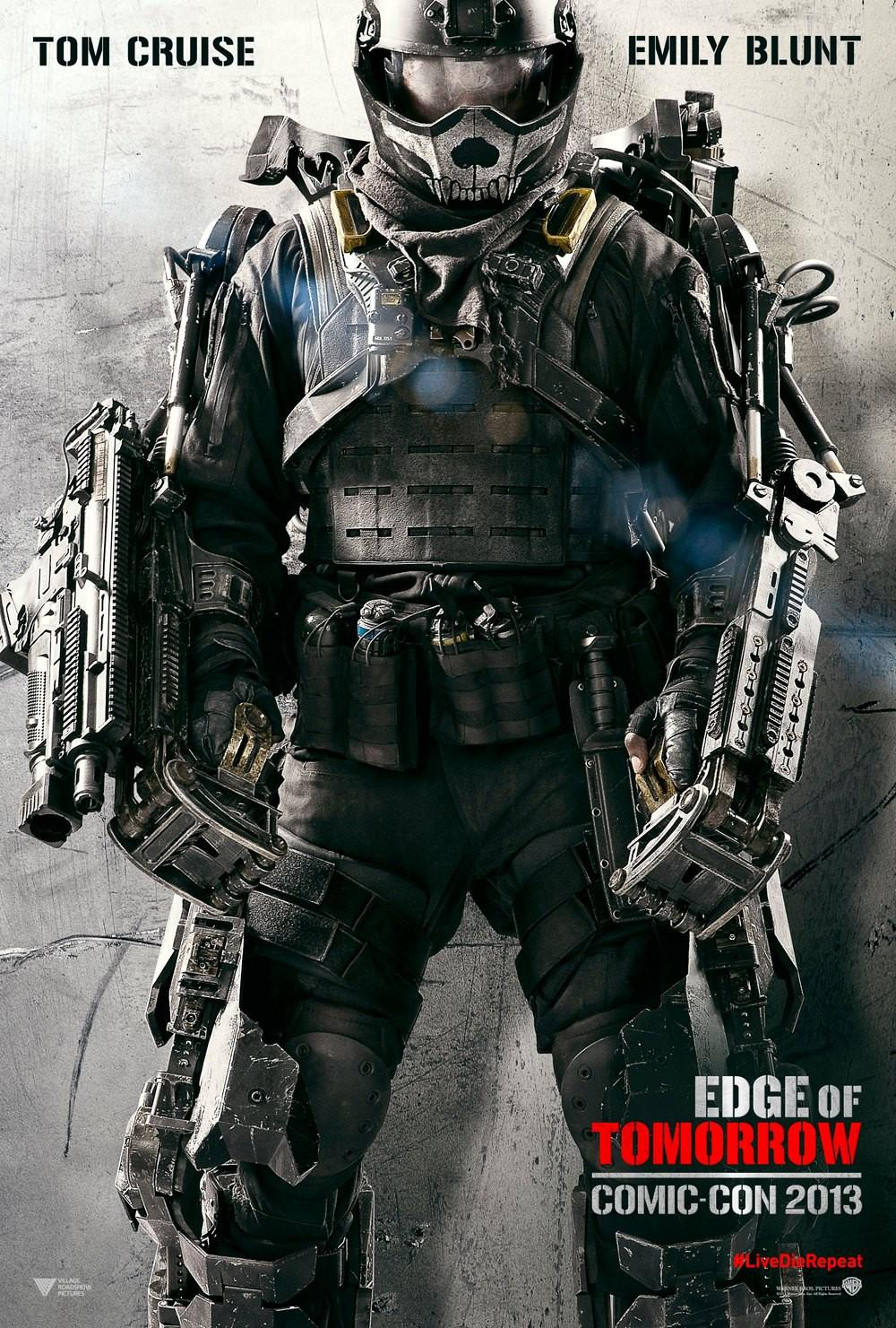 Edge of Tomorrow - Senza Domani - film poster - esoscheletro