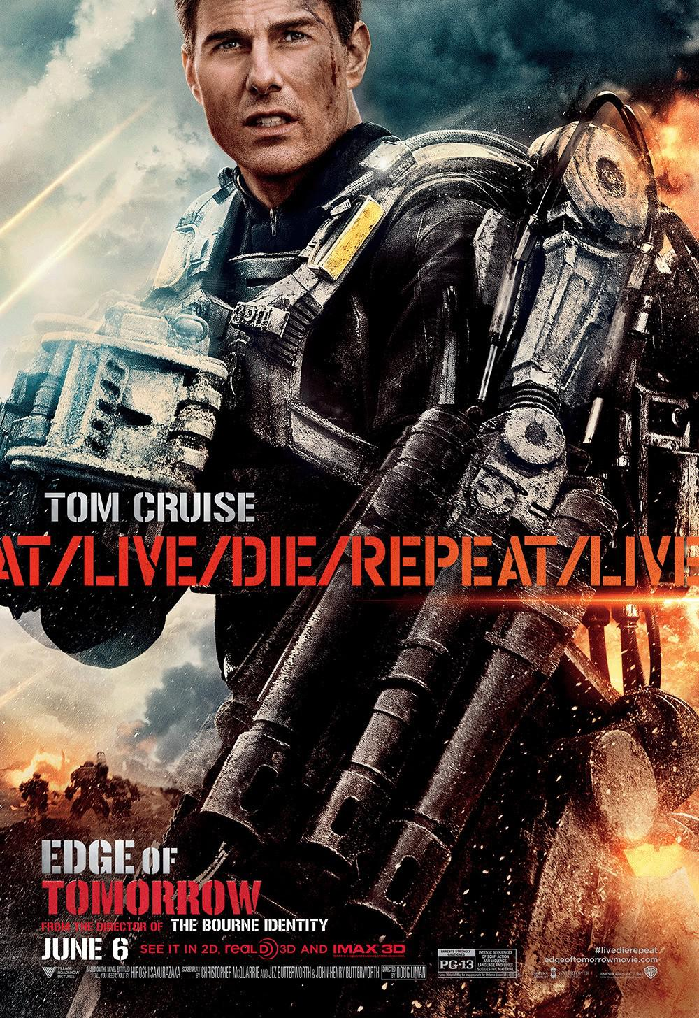 Edge of Tomorrow - Senza Domani - film poster - Tom Cruise