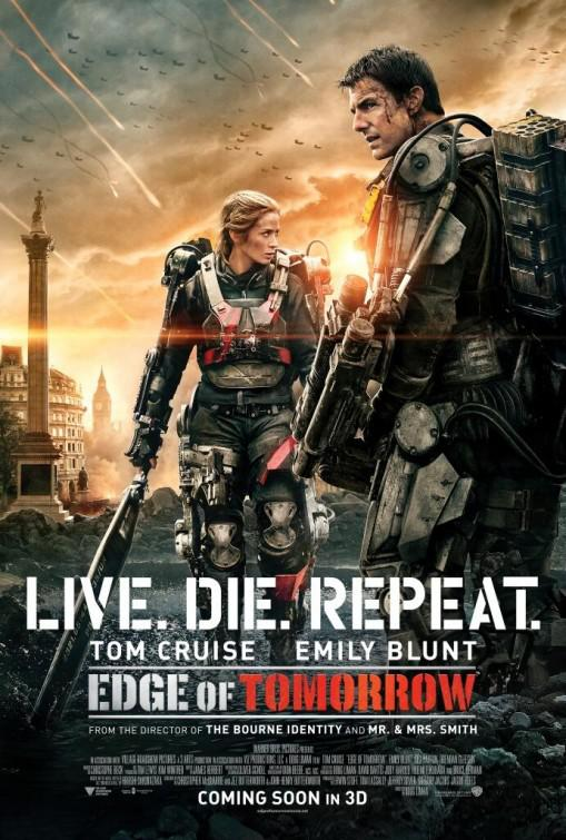 Edge of Tomorrow - Senza Domani - film poster - Live Die Repeat