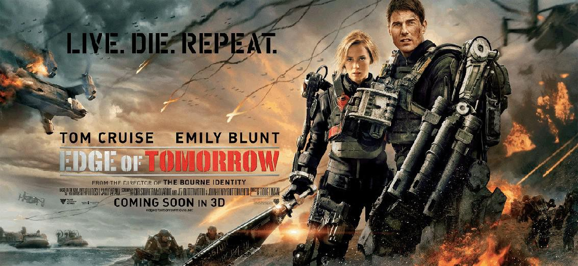 Edge of Tomorrow - Senza Domani - film poster - Tom Cruise - Emily Blunt
