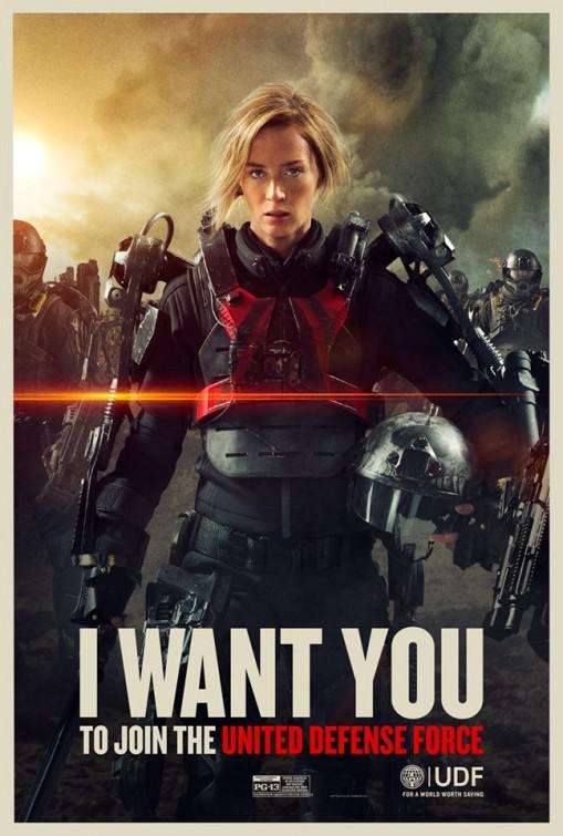 Edge of Tomorrow - Senza Domani - film poster - Emily Blunt