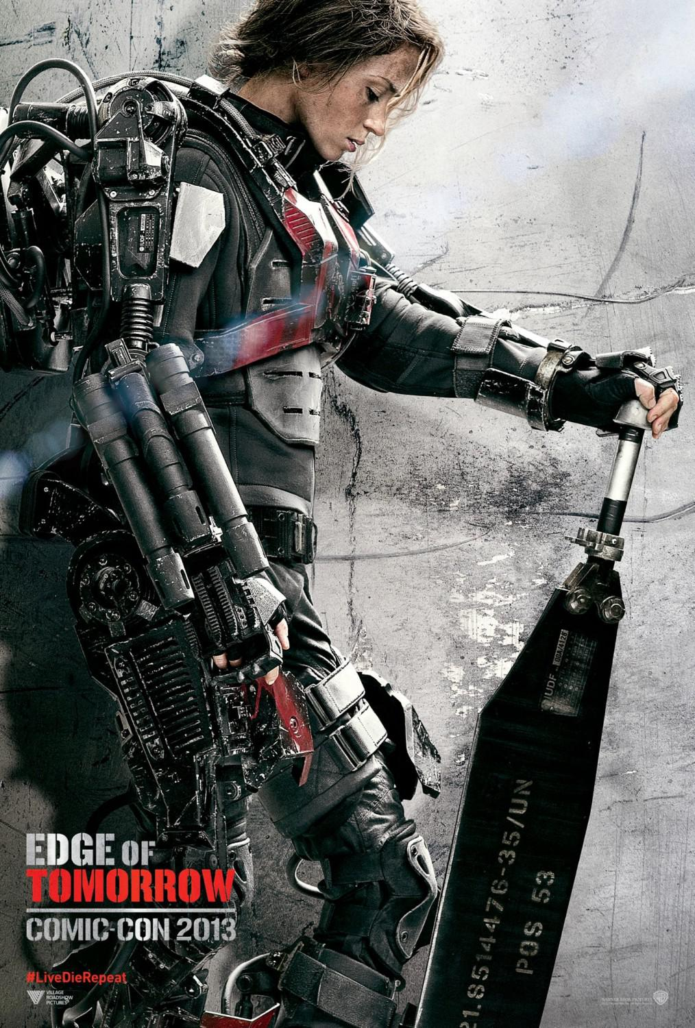 Edge of Tomorrow - Senza Domani - film poster - esoscheletro - Emily Blunt